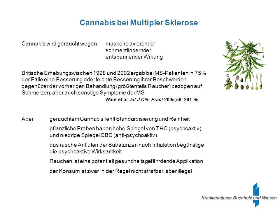 Cannabis bei Multipler Sklerose