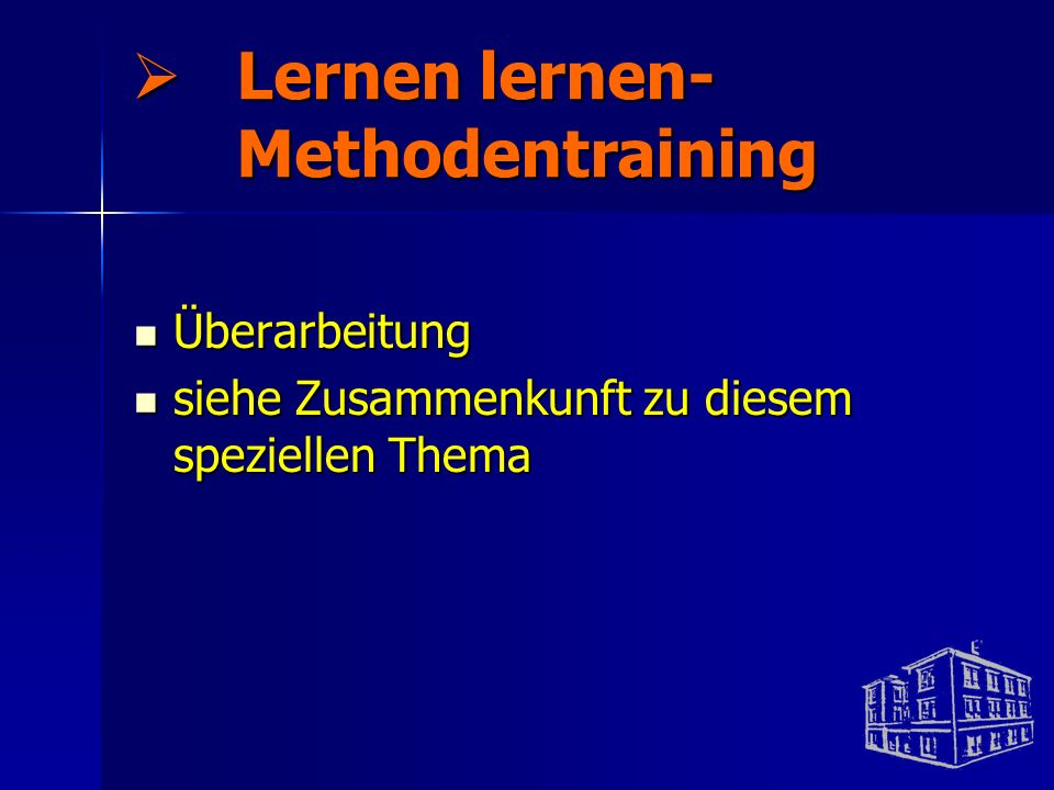 Lernen lernen- Methodentraining