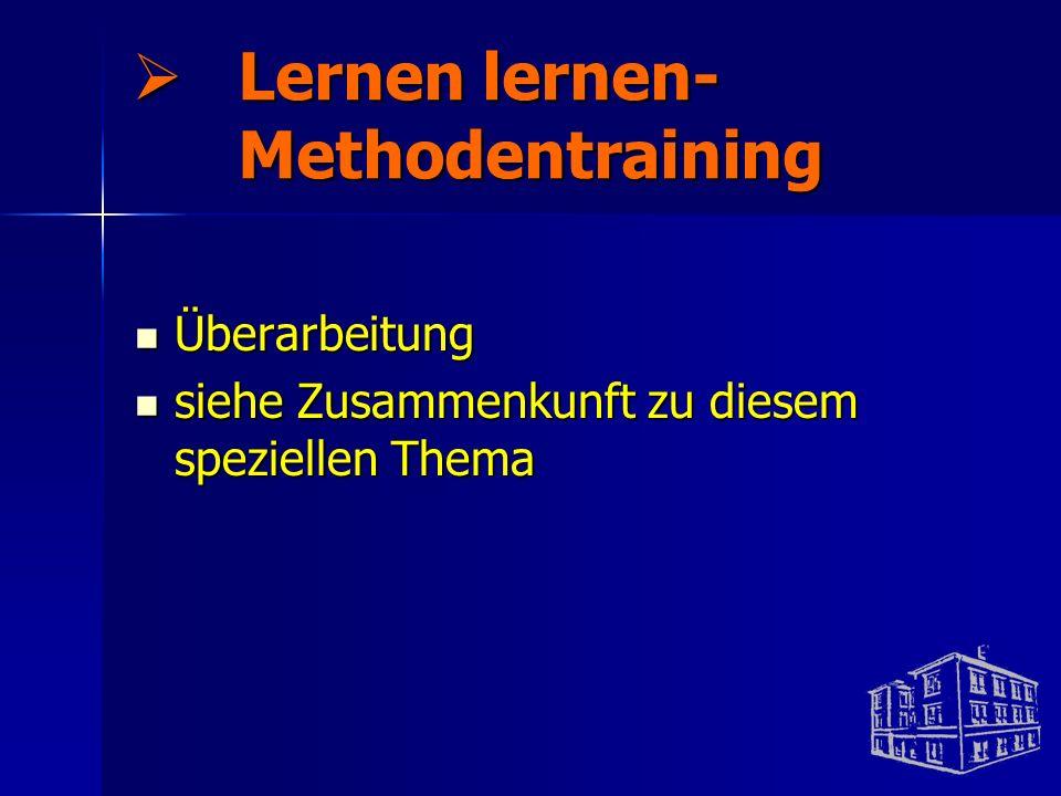 Lernen lernen- Methodentraining