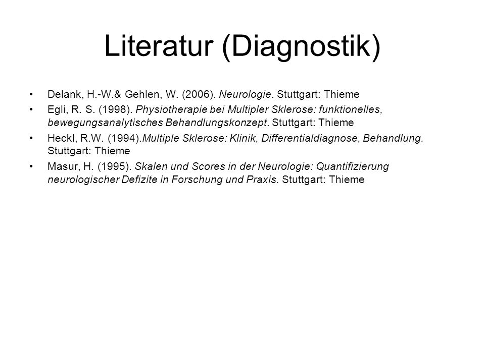 Literatur (Diagnostik)