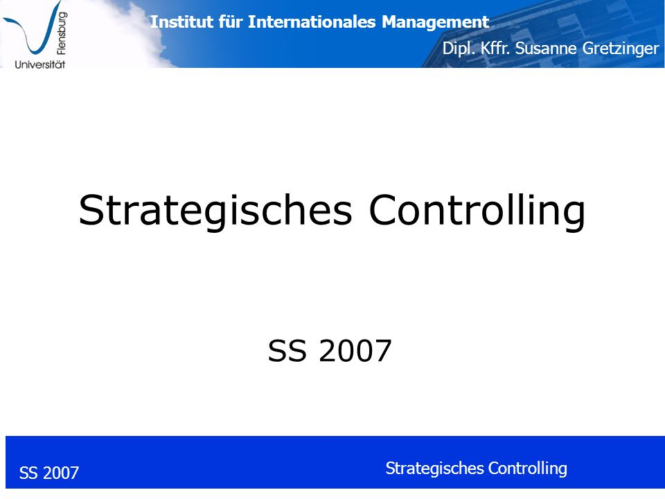 Strategisches Controlling