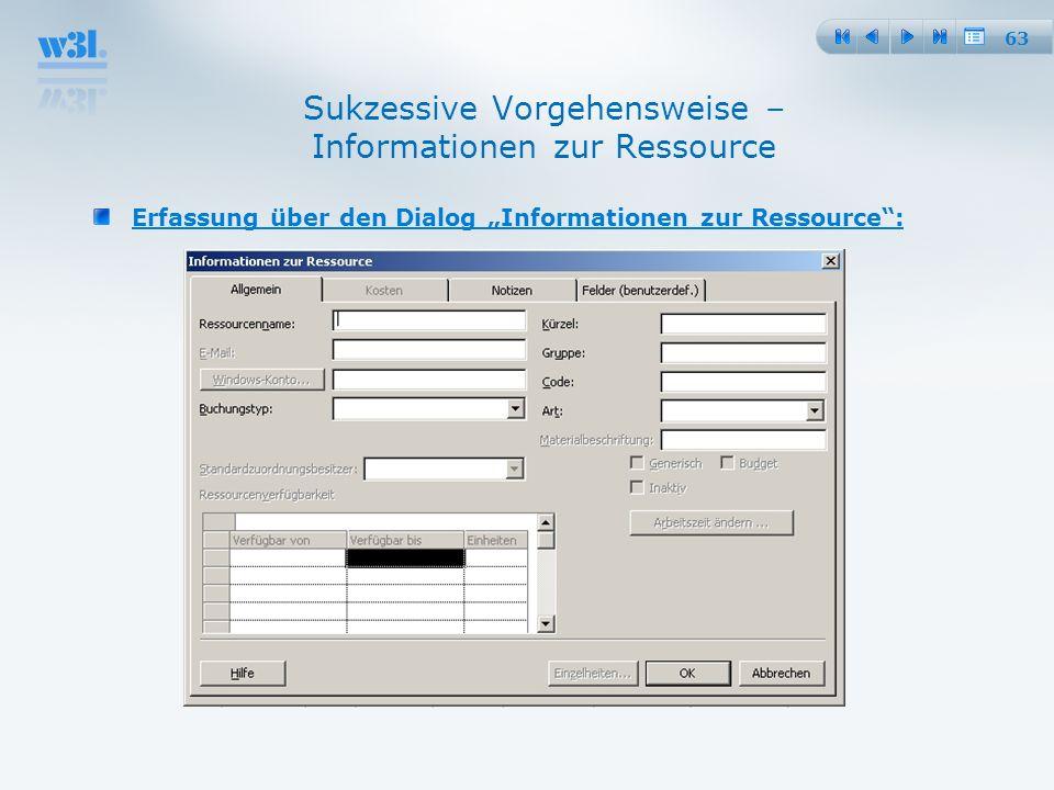 Sukzessive Vorgehensweise – Informationen zur Ressource