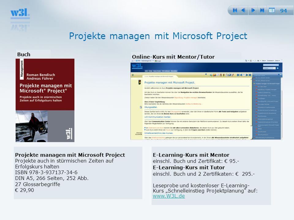 Projekte managen mit Microsoft Project