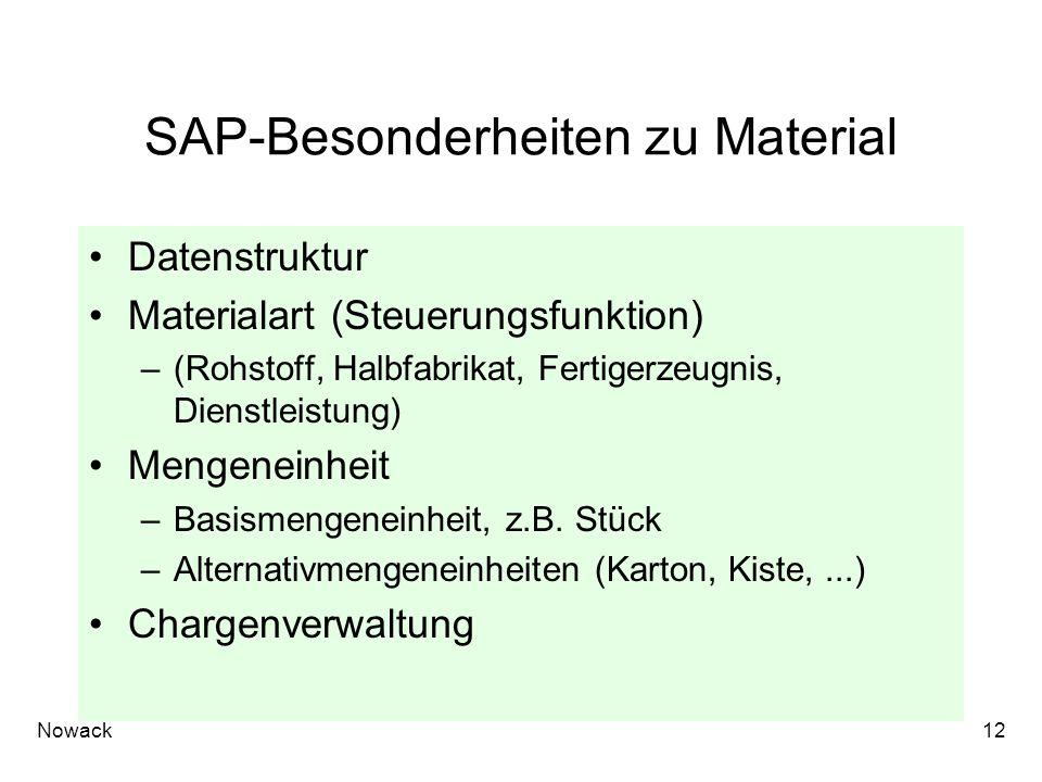 SAP-Besonderheiten zu Material