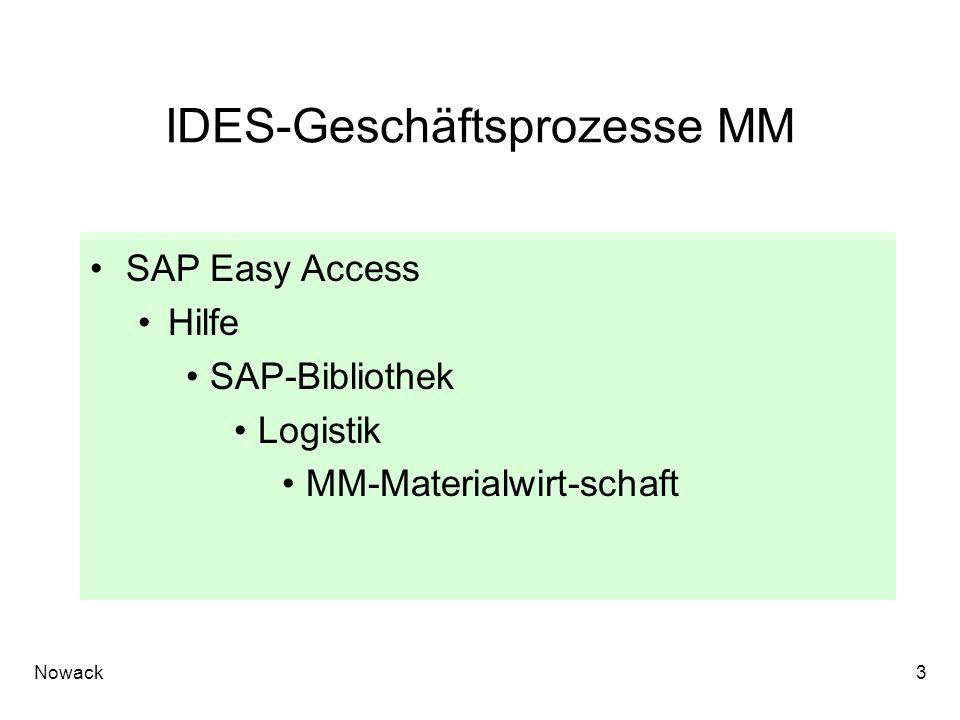 IDES-Geschäftsprozesse MM