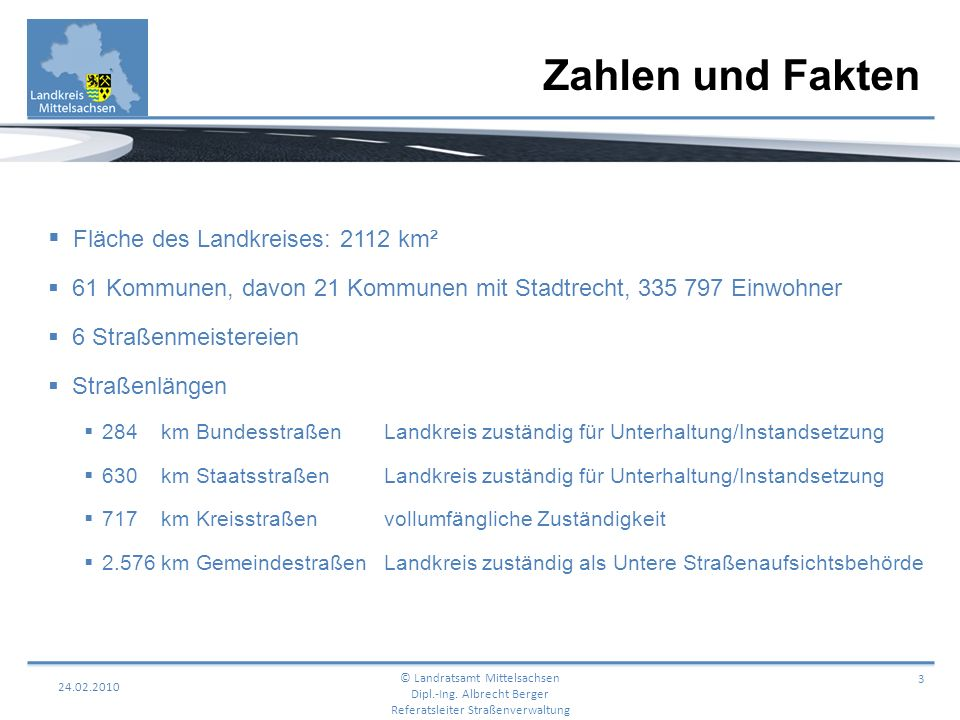 Zahlen und Fakten Fläche des Landkreises: 2112 km²
