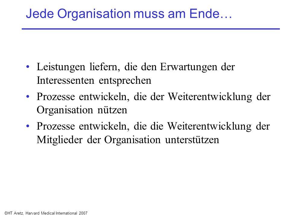 Jede Organisation muss am Ende…