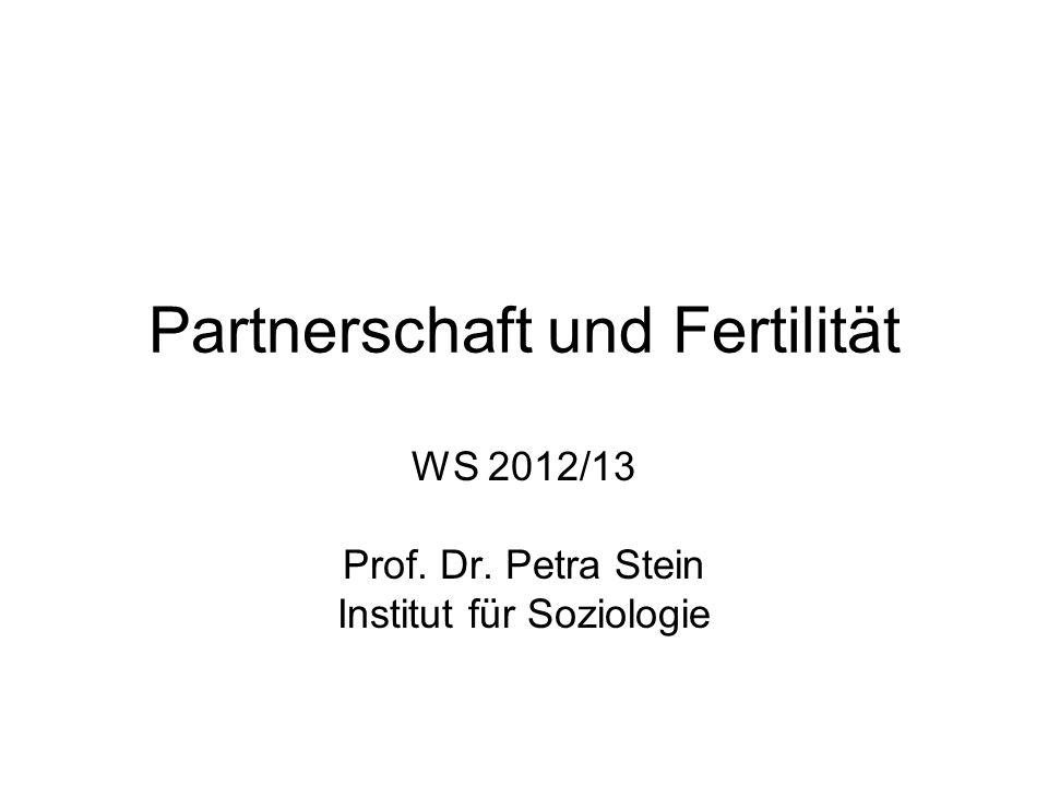 Partnerschaft und Fertilität