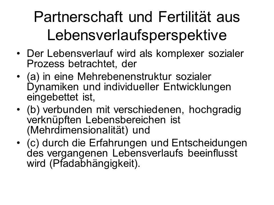 Partnerschaft und Fertilität aus Lebensverlaufsperspektive