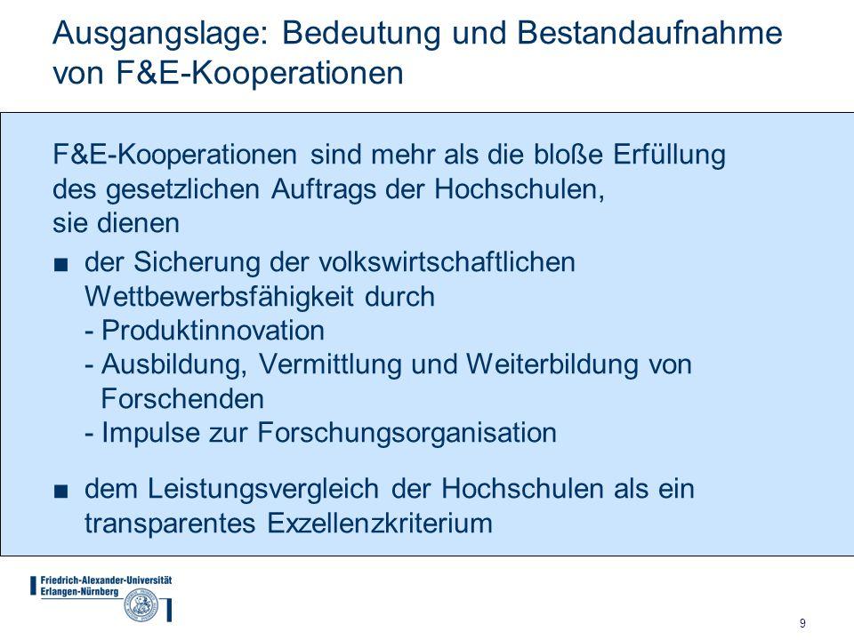Ausgangslage: Bedeutung und Bestandaufnahme von F&E-Kooperationen