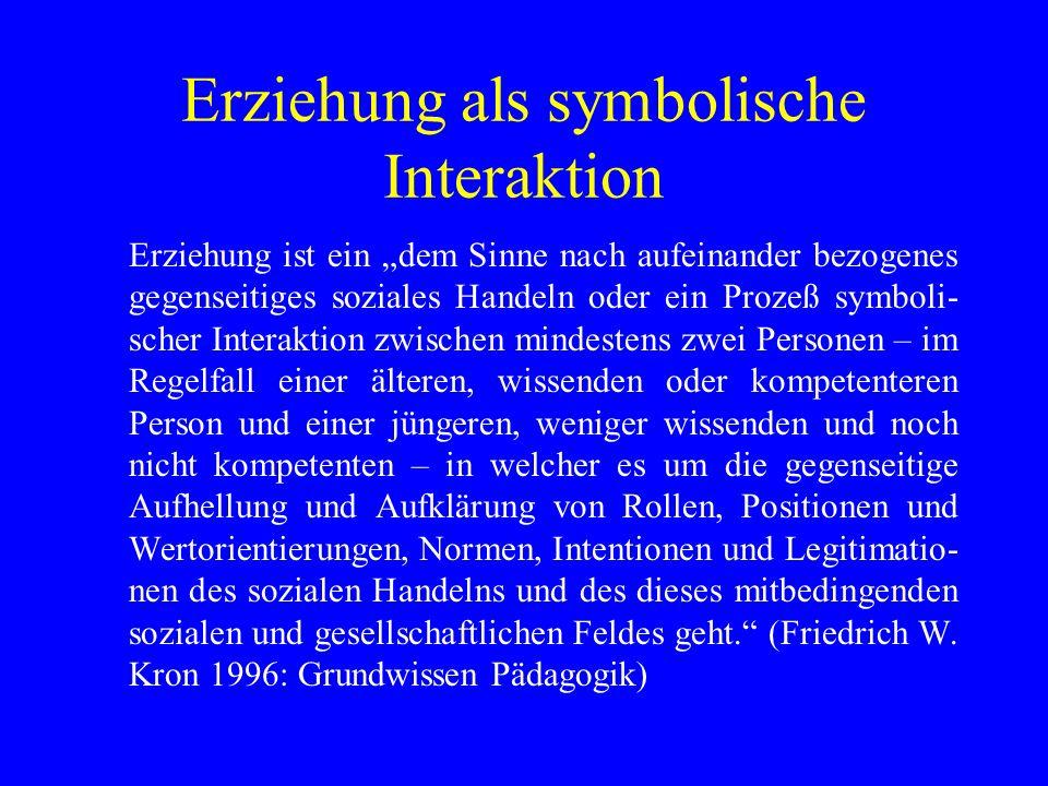 Erziehung als symbolische Interaktion