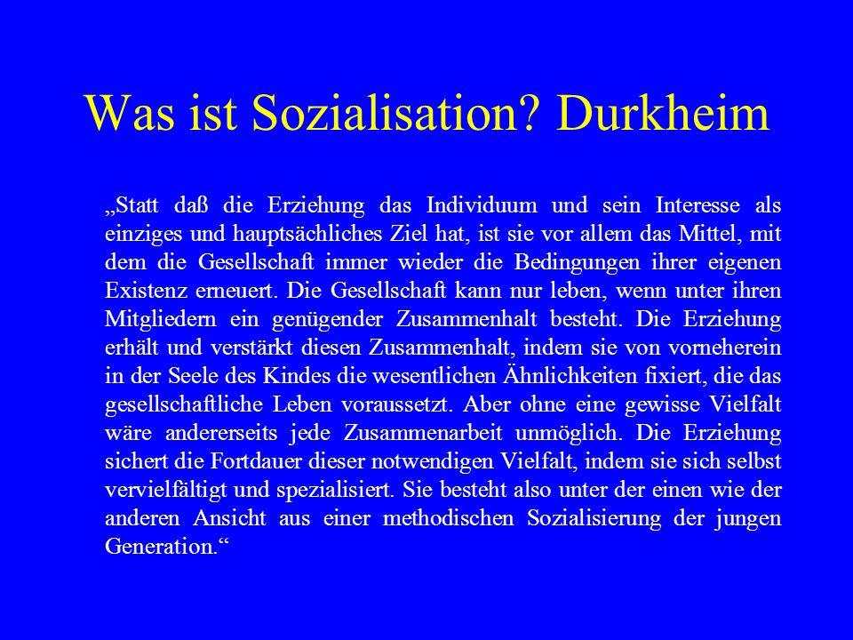 Was ist Sozialisation Durkheim