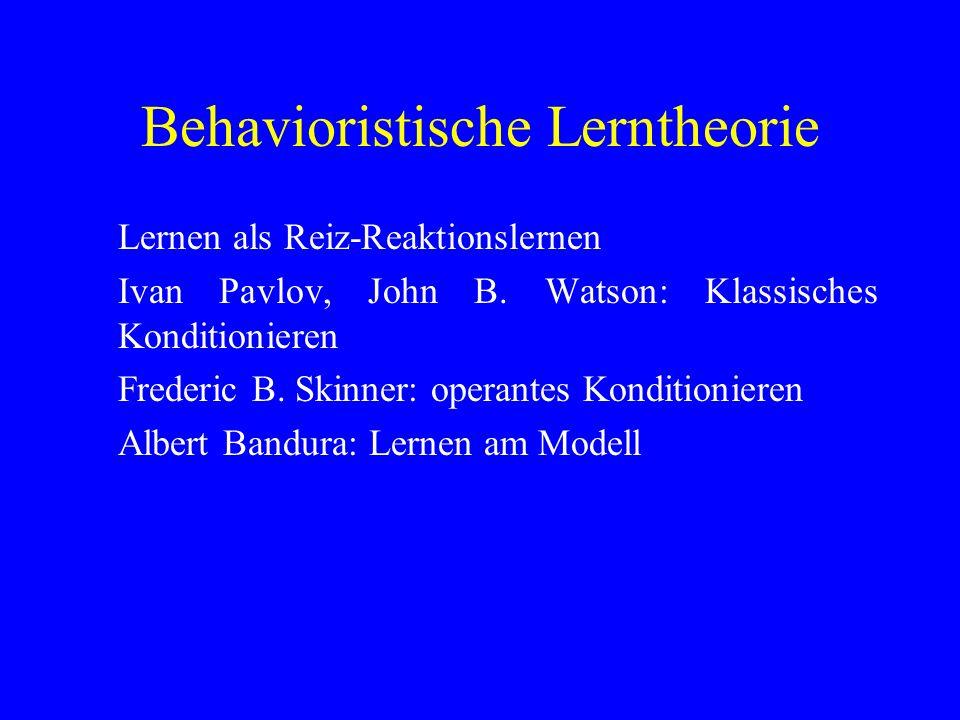 Behavioristische Lerntheorie