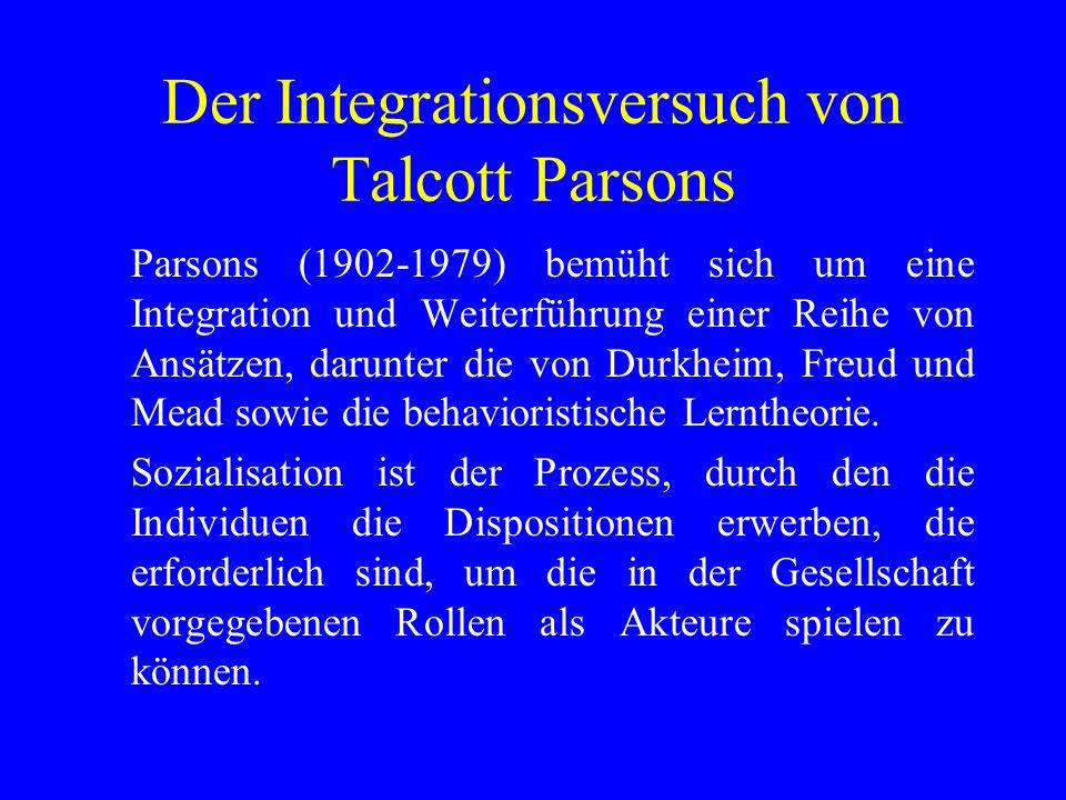 Der Integrationsversuch von Talcott Parsons