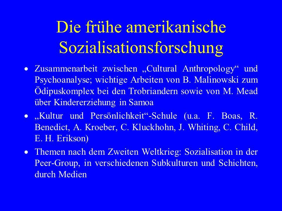 Die frühe amerikanische Sozialisationsforschung