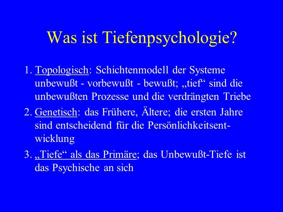 Was ist Tiefenpsychologie