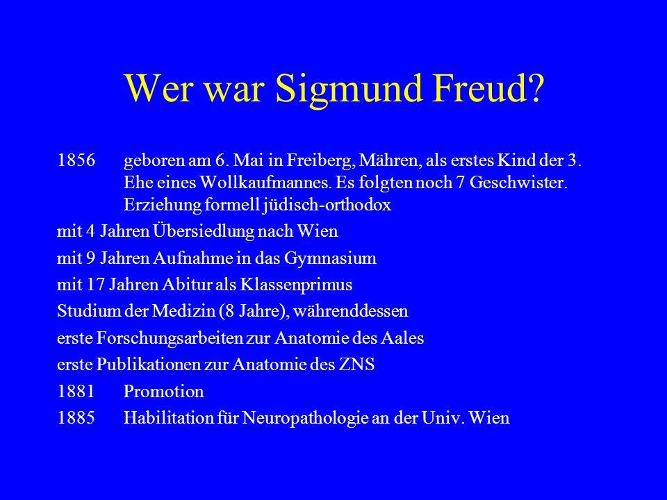 Wer war Sigmund Freud