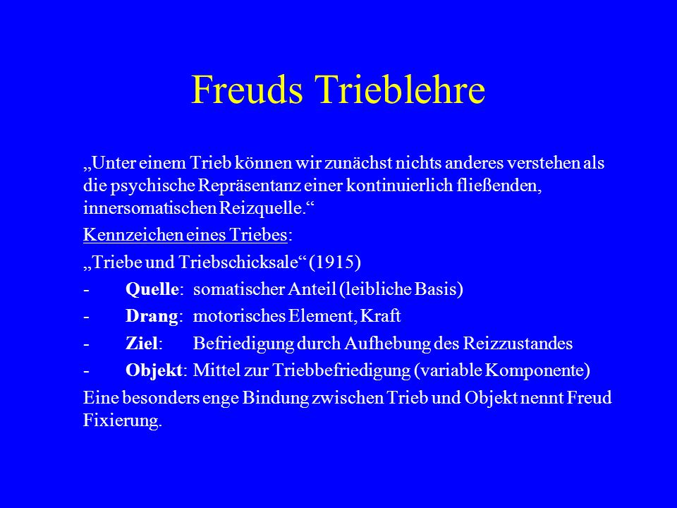 Freuds Trieblehre
