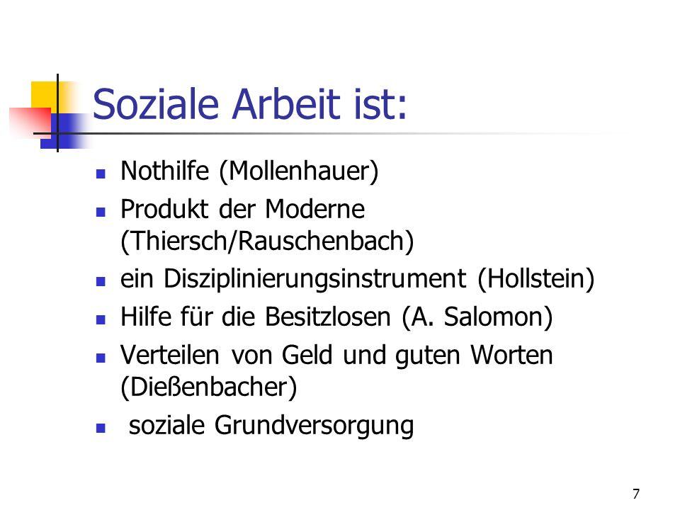 Soziale Arbeit ist: Nothilfe (Mollenhauer)