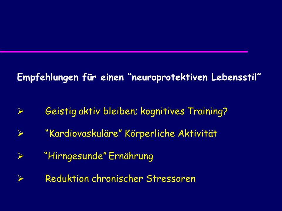Empfehlungen für einen neuroprotektiven Lebensstil