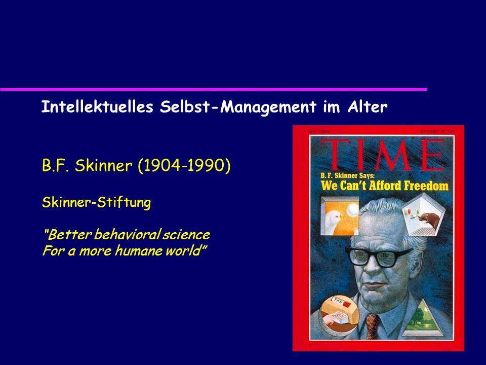 Intellektuelles Selbst-Management im Alter