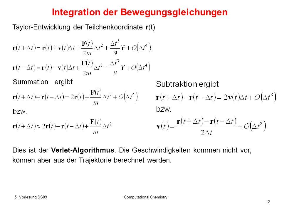 Integration der Bewegungsgleichungen