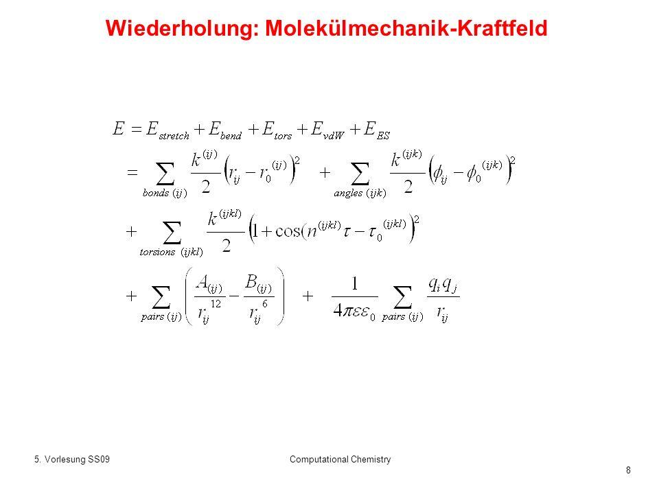 Wiederholung: Molekülmechanik-Kraftfeld