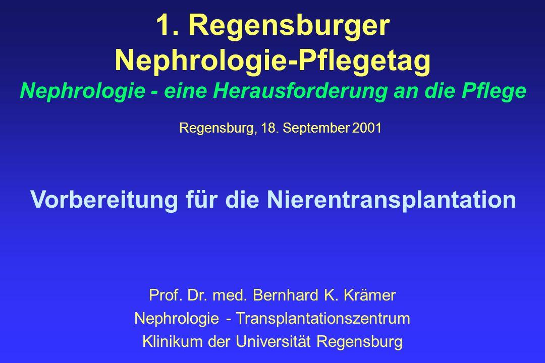 1. Regensburger Nephrologie-Pflegetag