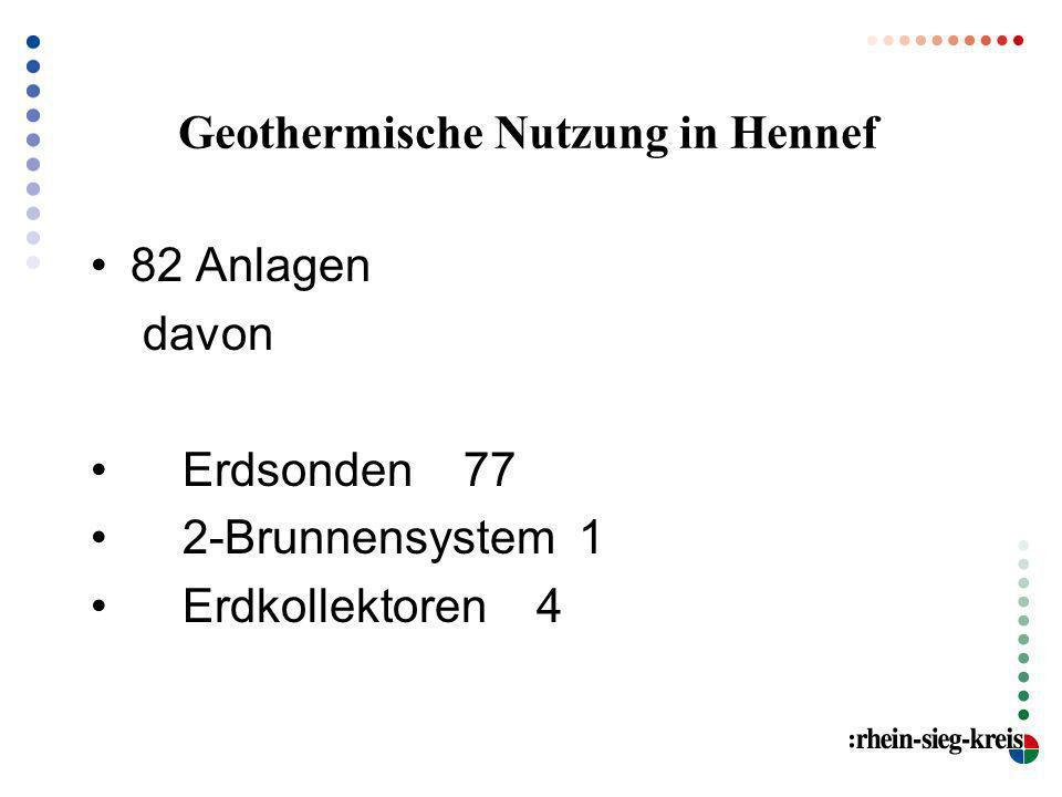 Geothermische Nutzung in Hennef