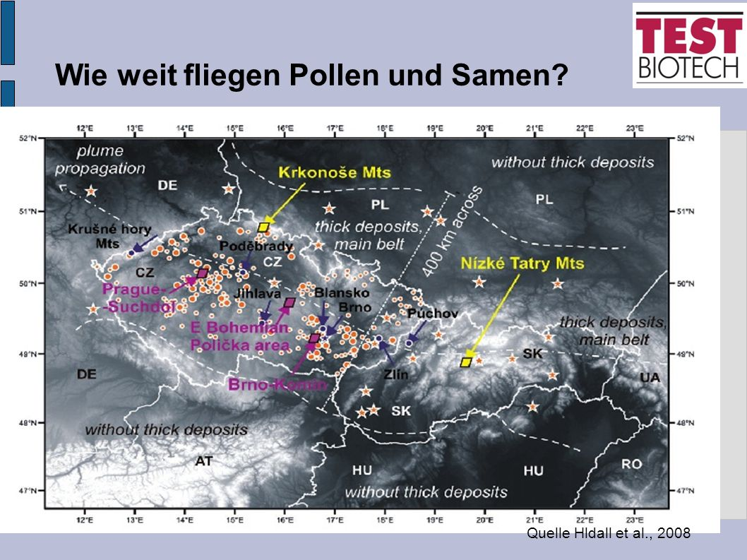 Wie weit fliegen Pollen und Samen