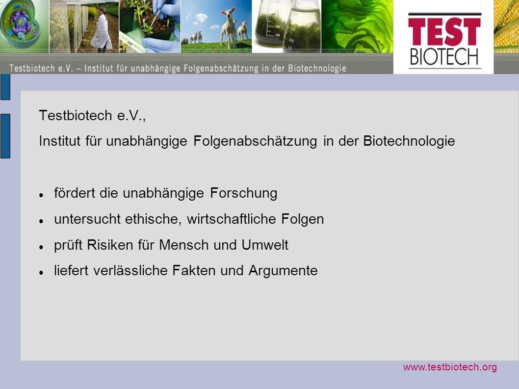 Institut für unabhängige Folgenabschätzung in der Biotechnologie