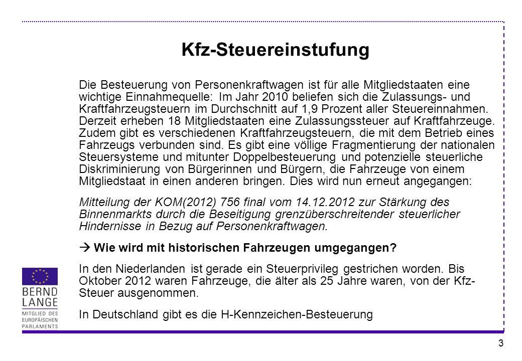 Kfz-Steuereinstufung