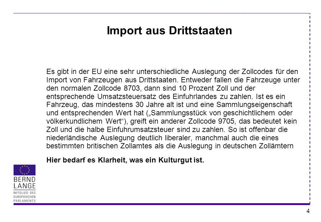 Import aus Drittstaaten