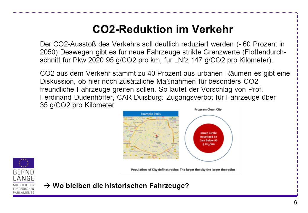 CO2-Reduktion im Verkehr