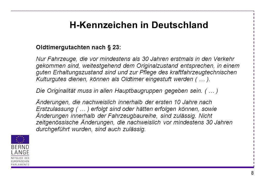 H-Kennzeichen in Deutschland