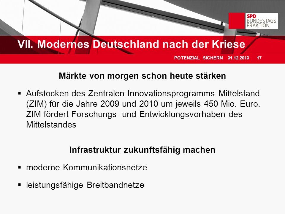 VII. Modernes Deutschland nach der Kriese