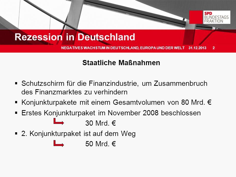 Rezession in Deutschland