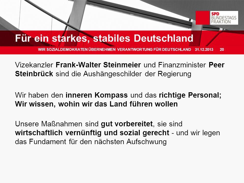 Für ein starkes, stabiles Deutschland