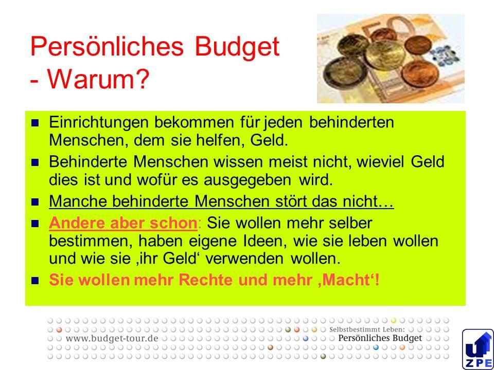 Persönliches Budget - Warum