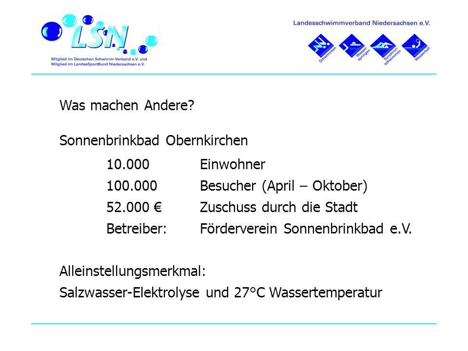 Was machen Andere Sonnenbrinkbad Obernkirchen. 10.000 Einwohner. 100.000 Besucher (April – Oktober)