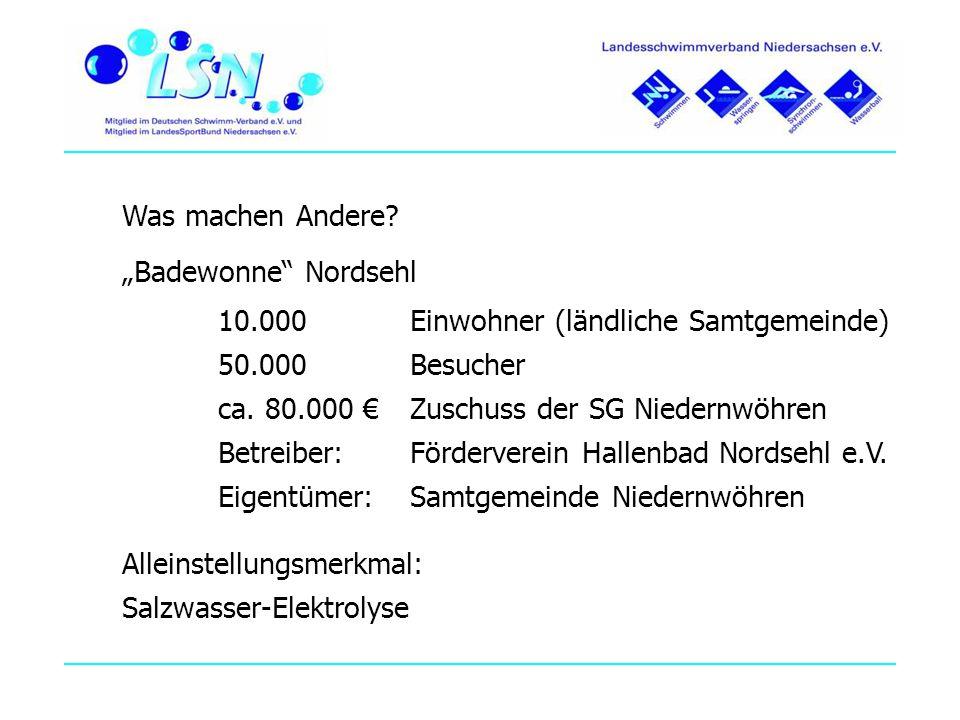 """Was machen Andere """"Badewonne Nordsehl. 10.000 Einwohner (ländliche Samtgemeinde) 50.000 Besucher."""