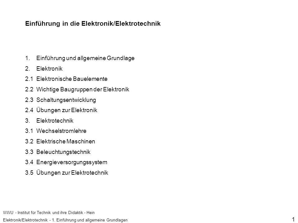 Einführung in die Elektronik/Elektrotechnik