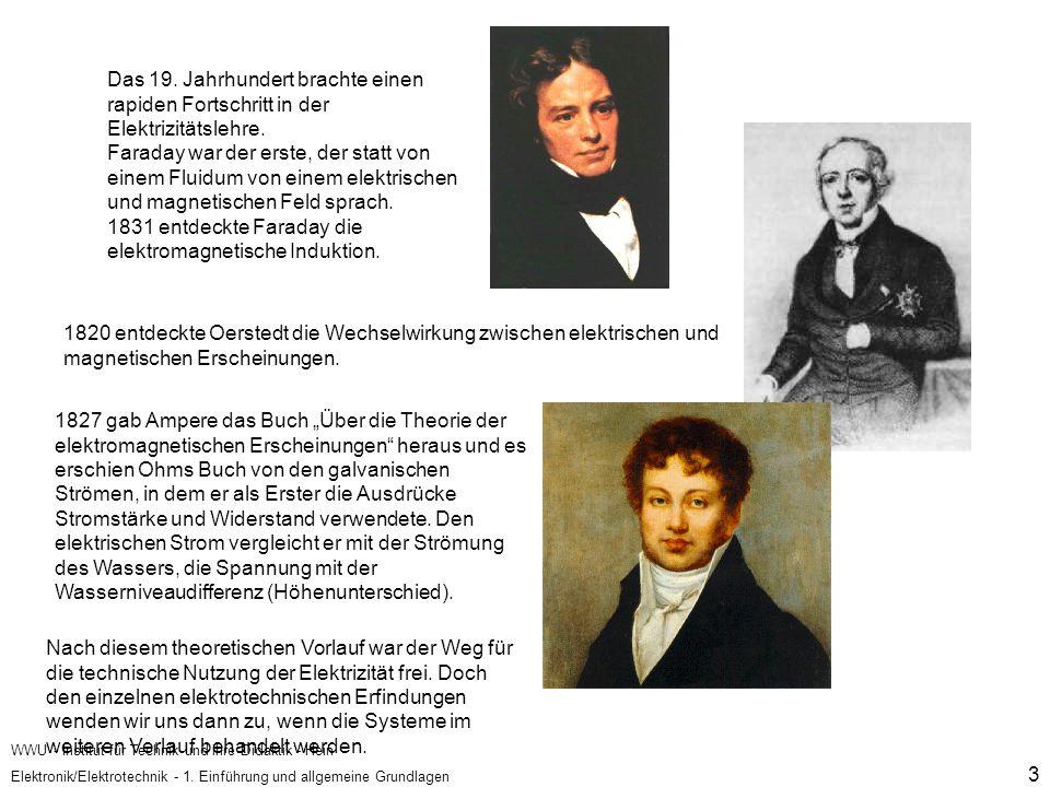 1831 entdeckte Faraday die elektromagnetische Induktion.