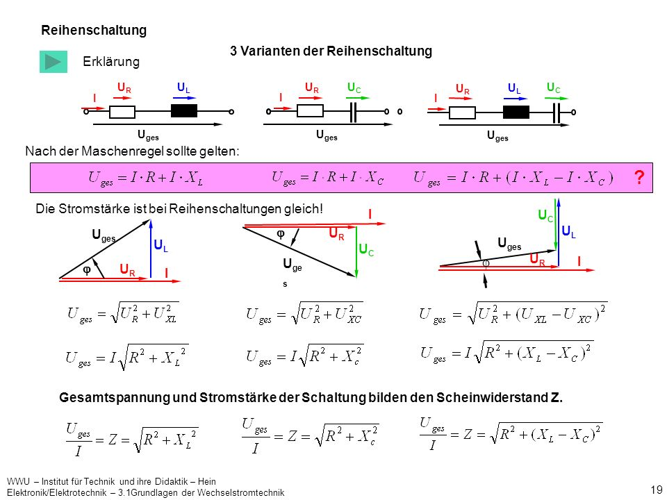 Reihenschaltung 3 Varianten der Reihenschaltung Erklärung