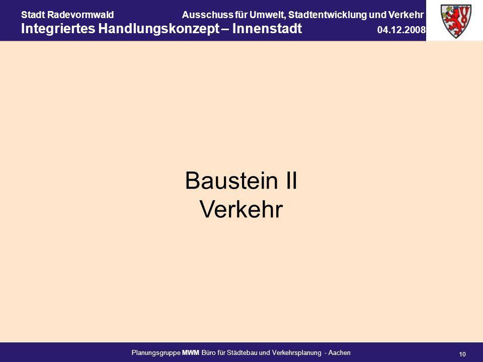 Baustein II Verkehr