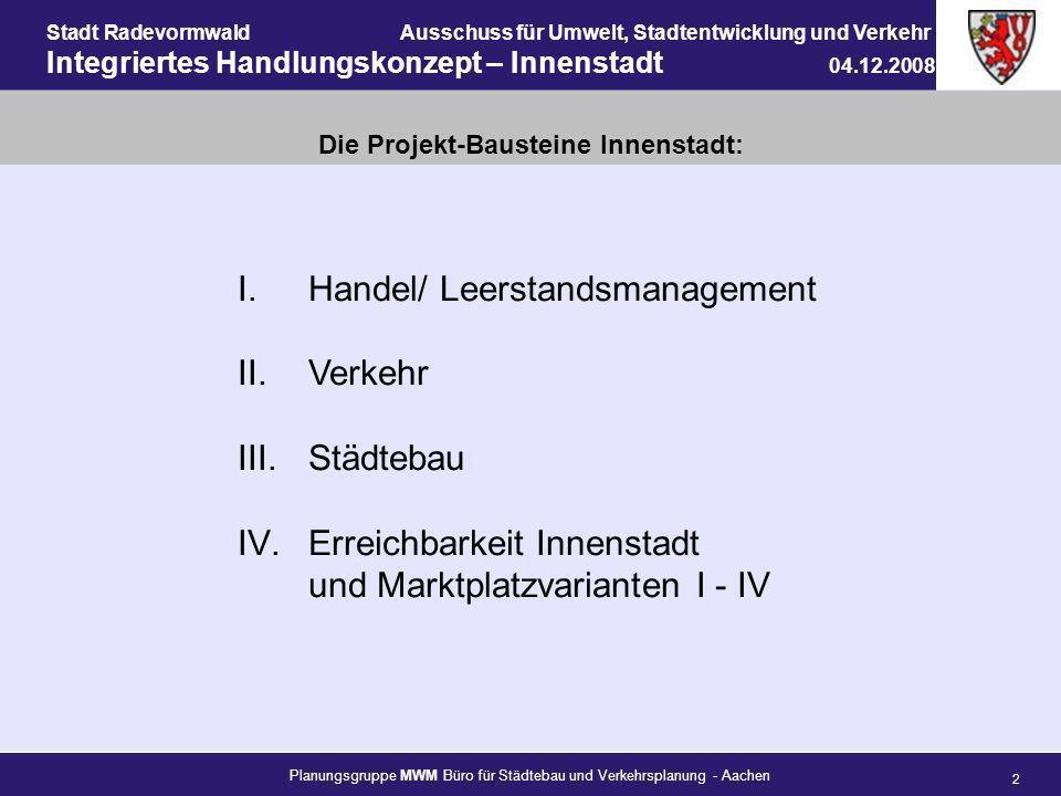 Die Projekt-Bausteine Innenstadt: