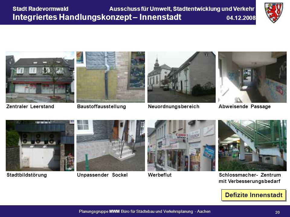 Defizite Innenstadt Zentraler Leerstand Baustoffausstellung