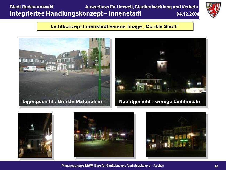 "Lichtkonzept Innenstadt versus Image ""Dunkle Stadt"