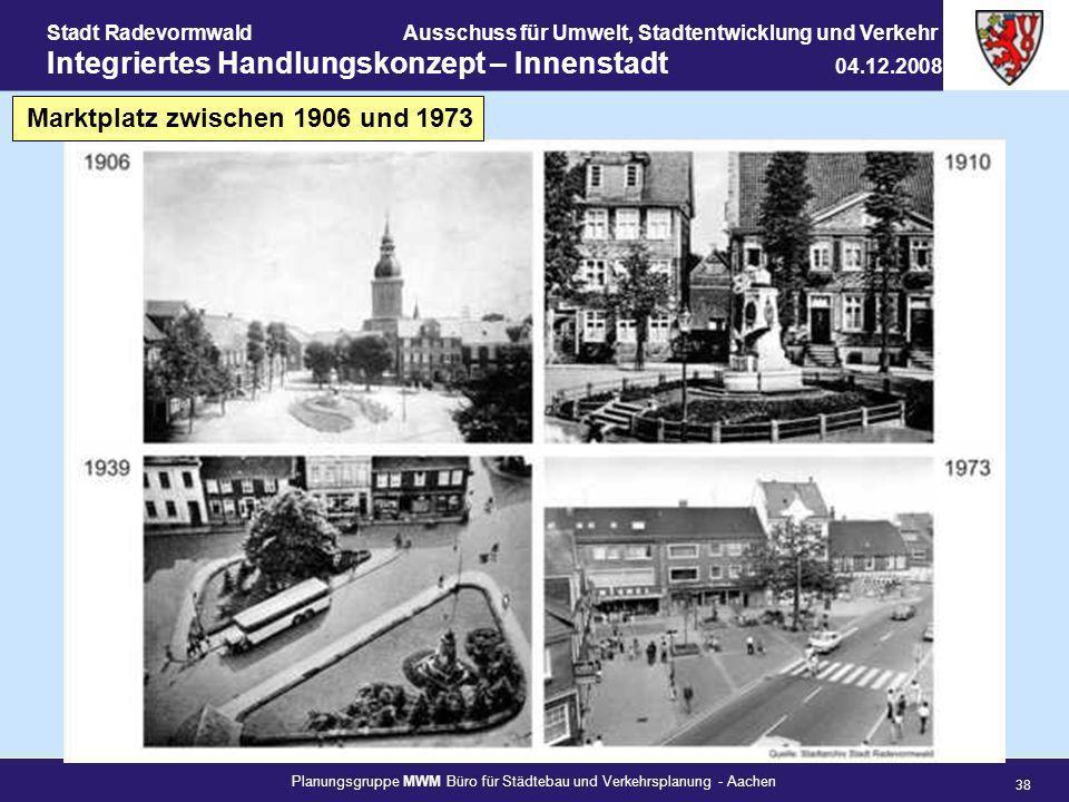Marktplatz zwischen 1906 und 1973