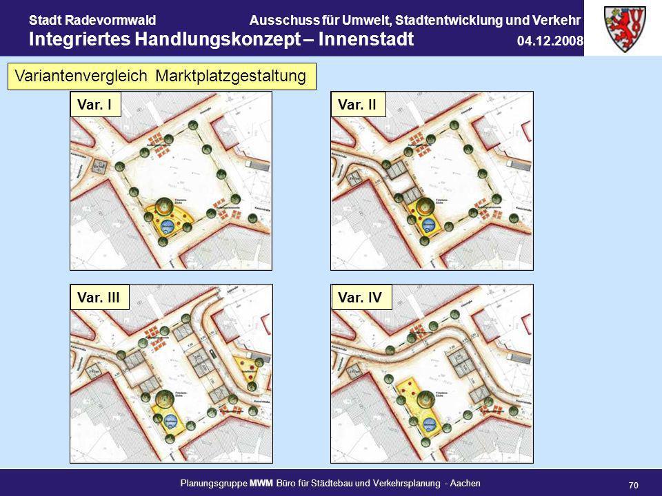 Variantenvergleich Marktplatzgestaltung